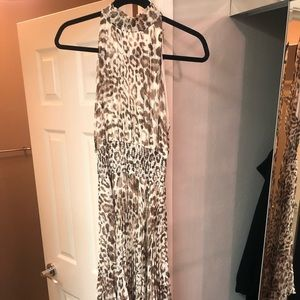 Olivaceous  leopard full length dress